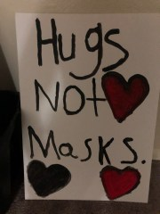 Hugs Not Masks Stop the Fraud
