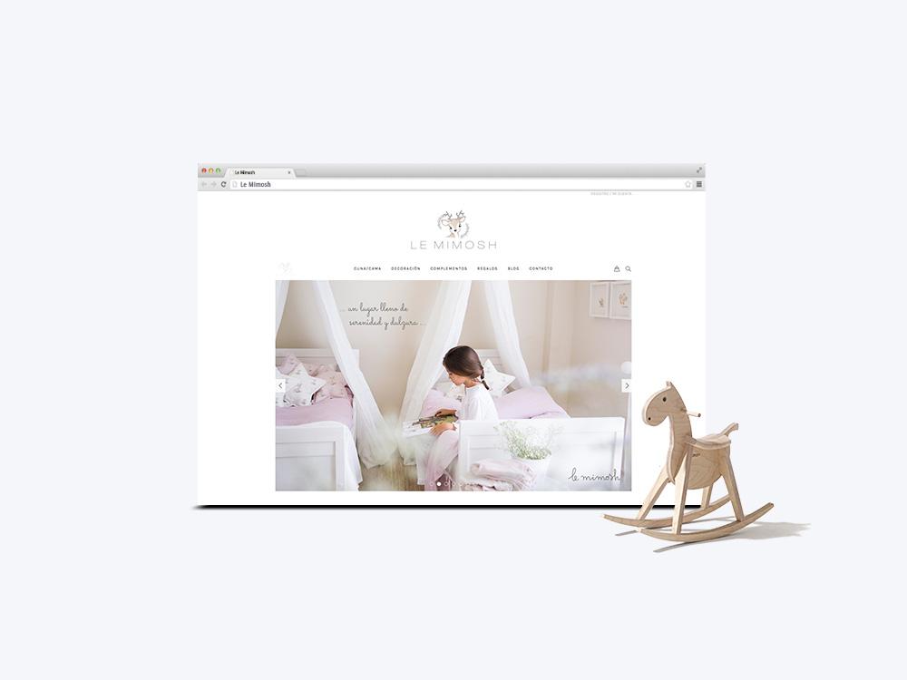 Diseño web/tienda online Le Mimosh en base wordpress