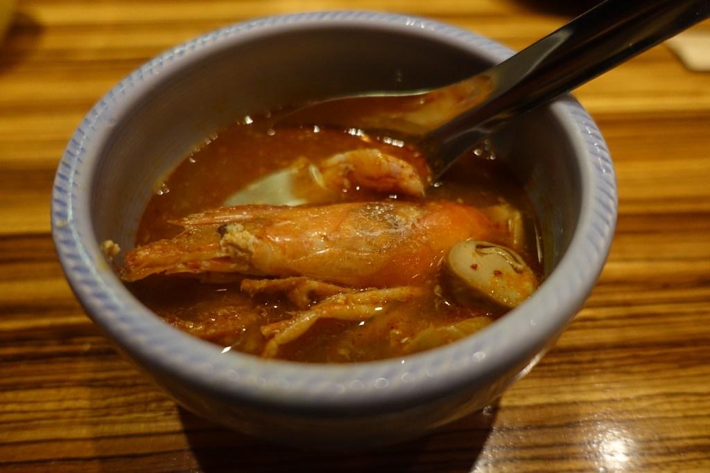 レアエビのスパイシースープ
