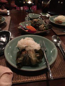 以前タイで食べたガイホーバイトゥーイ