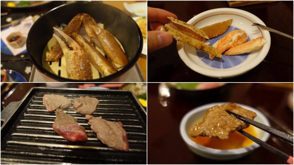 夕食(カニ、氷見牛等)