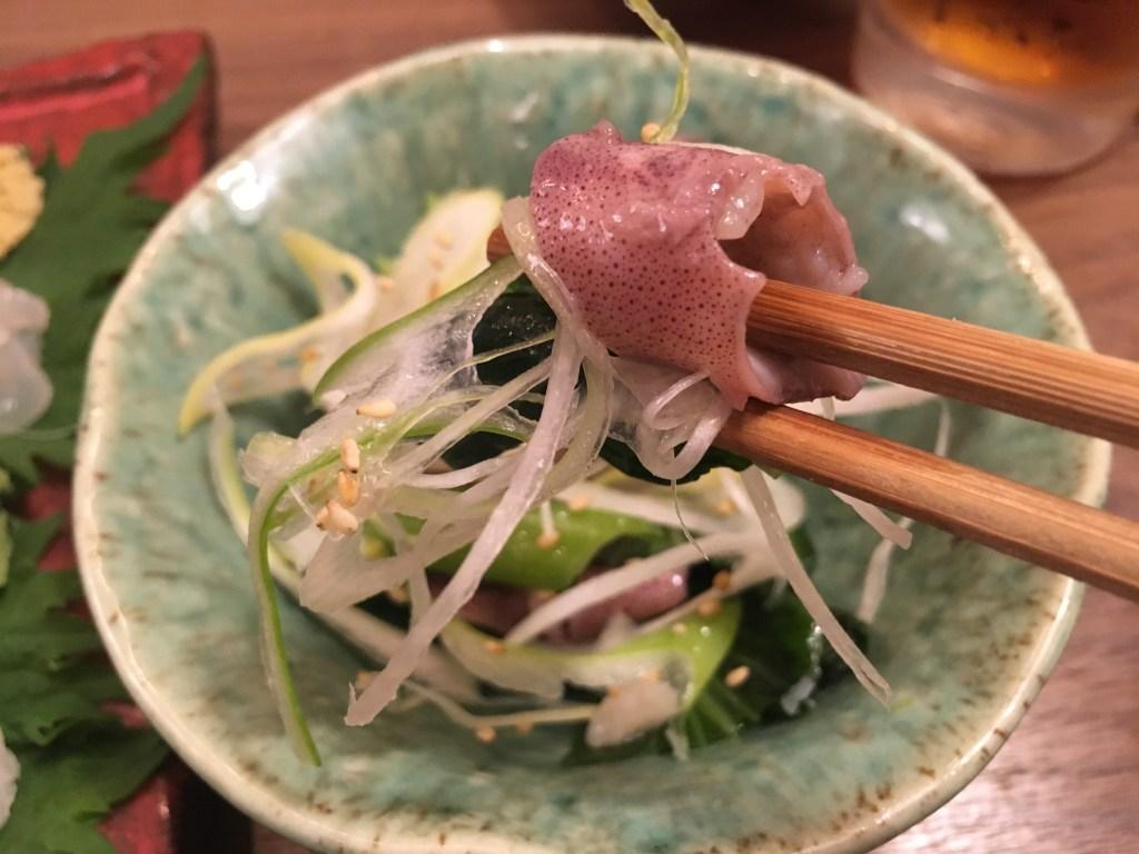 ジンドウイカと青菜の塩ダレナムル