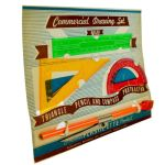 1950s Hassenfeld Brothers (Pre Hasbro) Pencil Drawing Set Vintage Old Orange