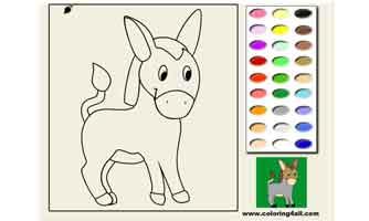 Ослик: Раскраски для малышей