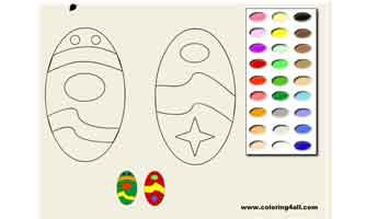 Пасхальные яйца: Раскраски для малышей