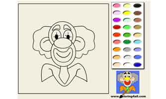 Клоун: Раскраски для малышей