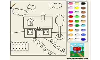 Домик: Раскраски для малышей