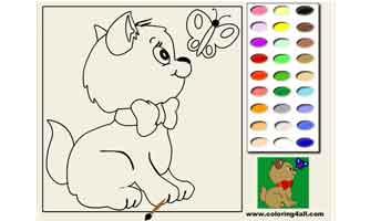 Котёнок: Раскраски для малышей