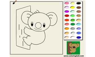 Коала: Раскраски для малышей