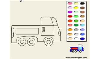 Грузовик: Раскраски для малышей