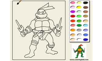 Черепашка ниндзя: Раскраски для малышей