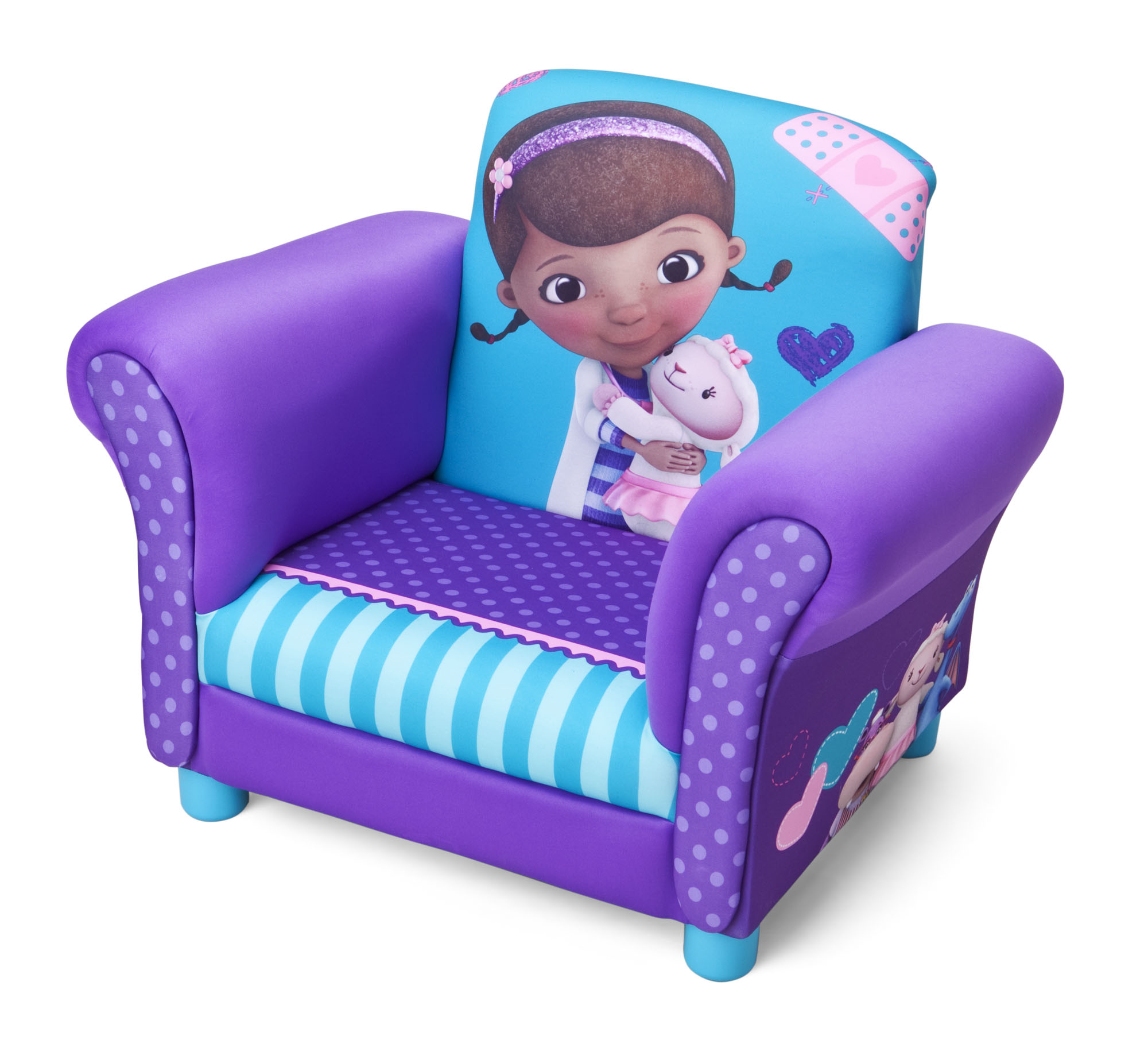 doc mcstuffins chair smyths fold up chairs asda upholstered the toy book