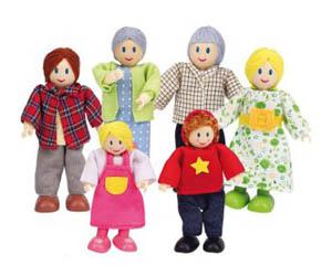 Hape Caucasian Doll Family Set