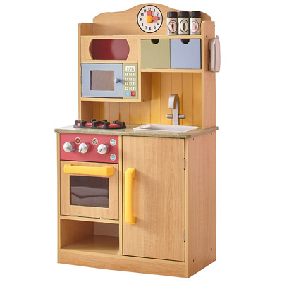 Teamson Kids Little Chef Burlywood Kitchen
