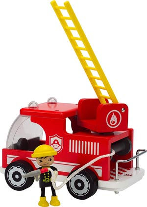 Hape Classic Fire Truck Toddler Wooden Play Set Review