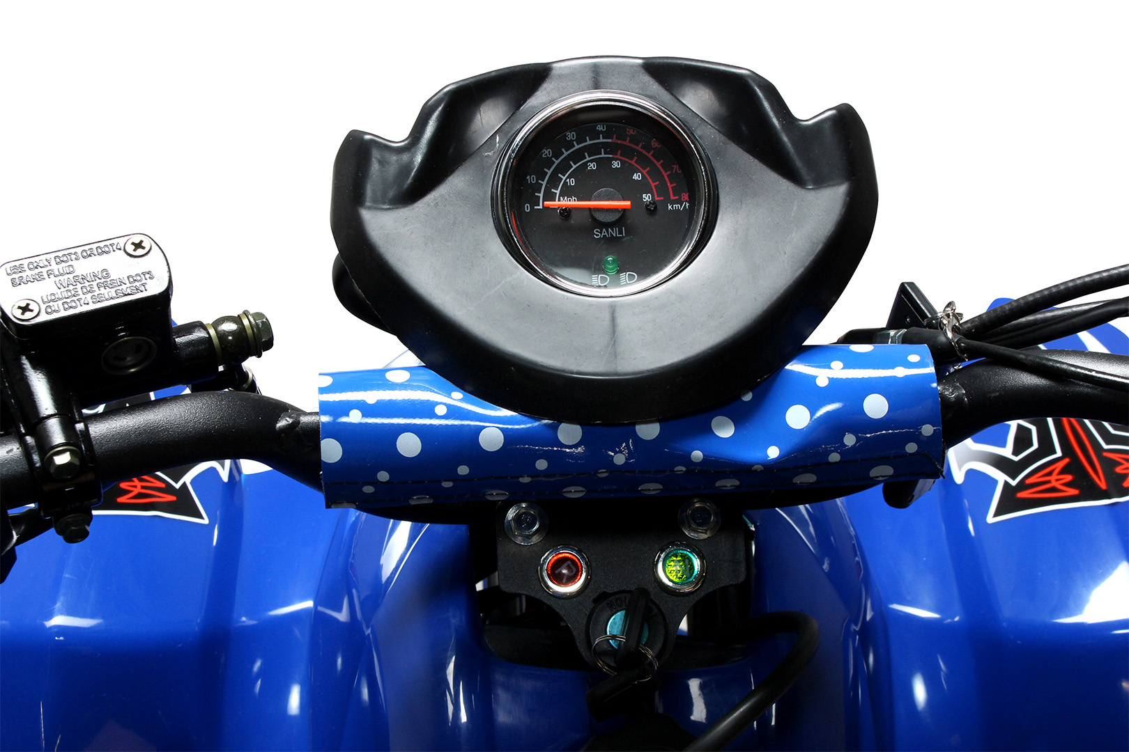 hight resolution of midi kinder quad atv s 5 polari style 125 cc kinderquad blau