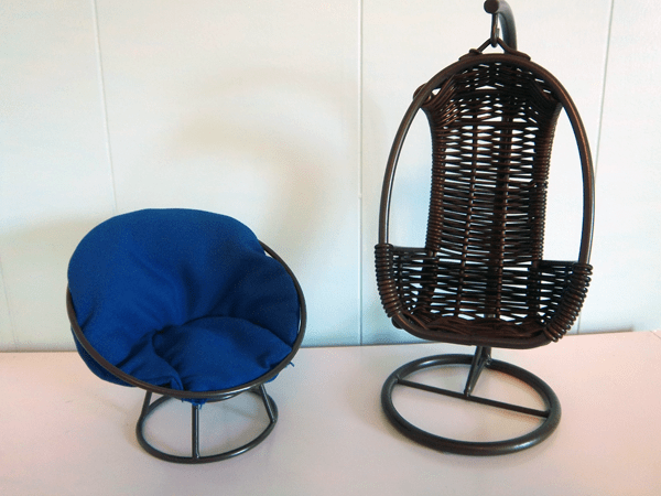 swing chair pier one shower vs bench review: papasan and swingasan cell phone holders from 1 as doll furniture | the toychest ...