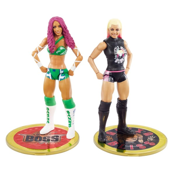WWE Mattel Sasha Banks vs Alexa Bliss Championship Showdown Series 1 Figures