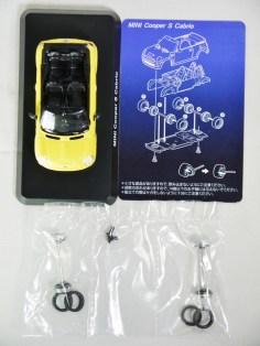 1-60 Kyosho MINI COOPER SEMI-ASSEMBLED S Cabrio YLW 09
