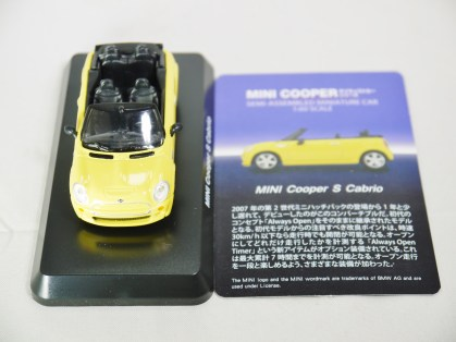 1-60 Kyosho MINI COOPER SEMI-ASSEMBLED S Cabrio YLW 10