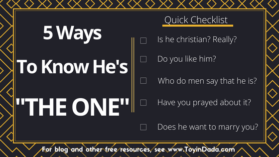 5 ways to know he's the one short checklist