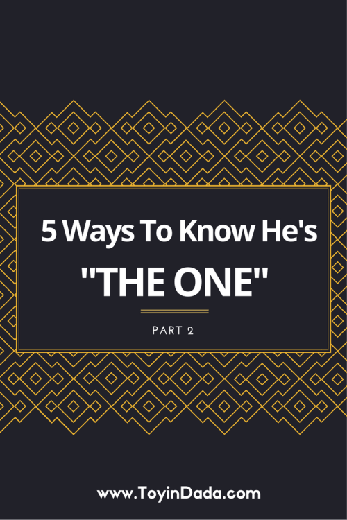 5 ways to know he's the one part 2