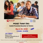 Suicide Prevention  Education for Parents, Teachers & Youth Workers
