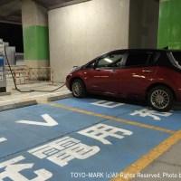 阪神高速泉大津PAの急速充電設備@東洋マーク
