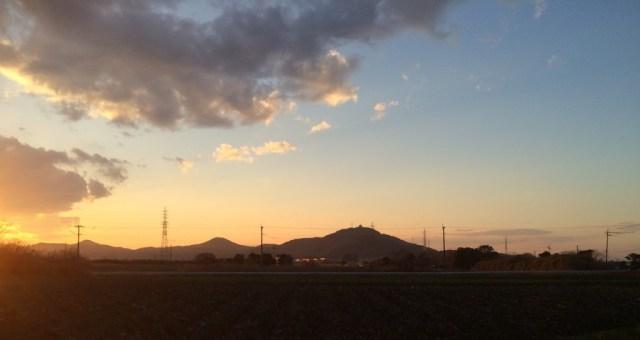蔵王山の夕暮れ