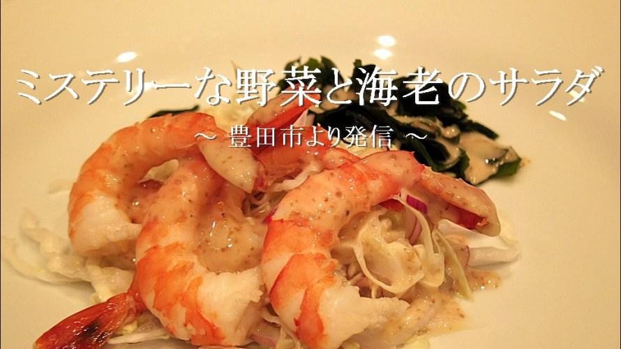 海老サラダで一杯とミステリアスな野菜の贈り物【自宅】