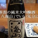 新潟の純米大吟醸酒「八海山」でいい気分に