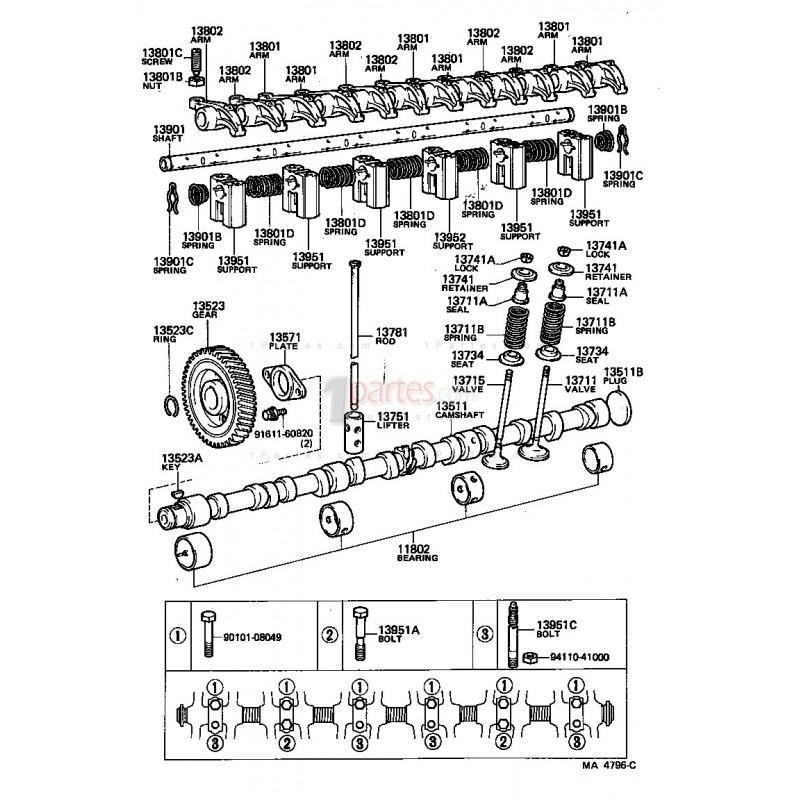Piñón del arbol de levas|Toyota|Land Cruiser|Land Cruiser