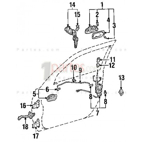 Bisagras|Toyota|Corolla|Prizm|E120|E130|E110|ZZE1||Grupo