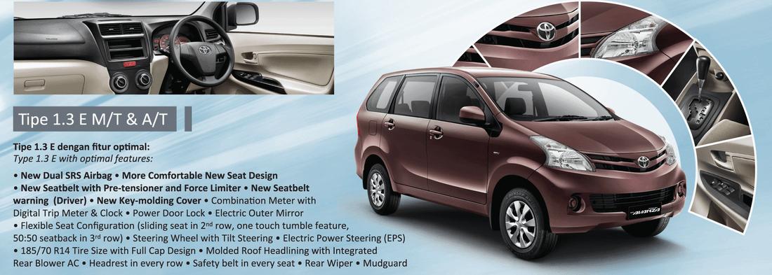 spesifikasi grand new avanza e 2015 toyota yaris trd exhaust dan harga 2013 di solo surakarta 08975960000 all 1 3 m t a