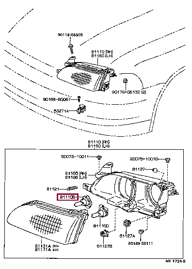 Оригинальные автозапчасти Тойота VITZ