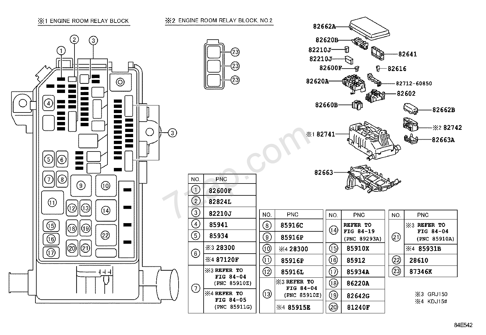 SWITCH & RELAY & COMPUTER[ENGINE ROOM RELAY BLOCK ILLUST