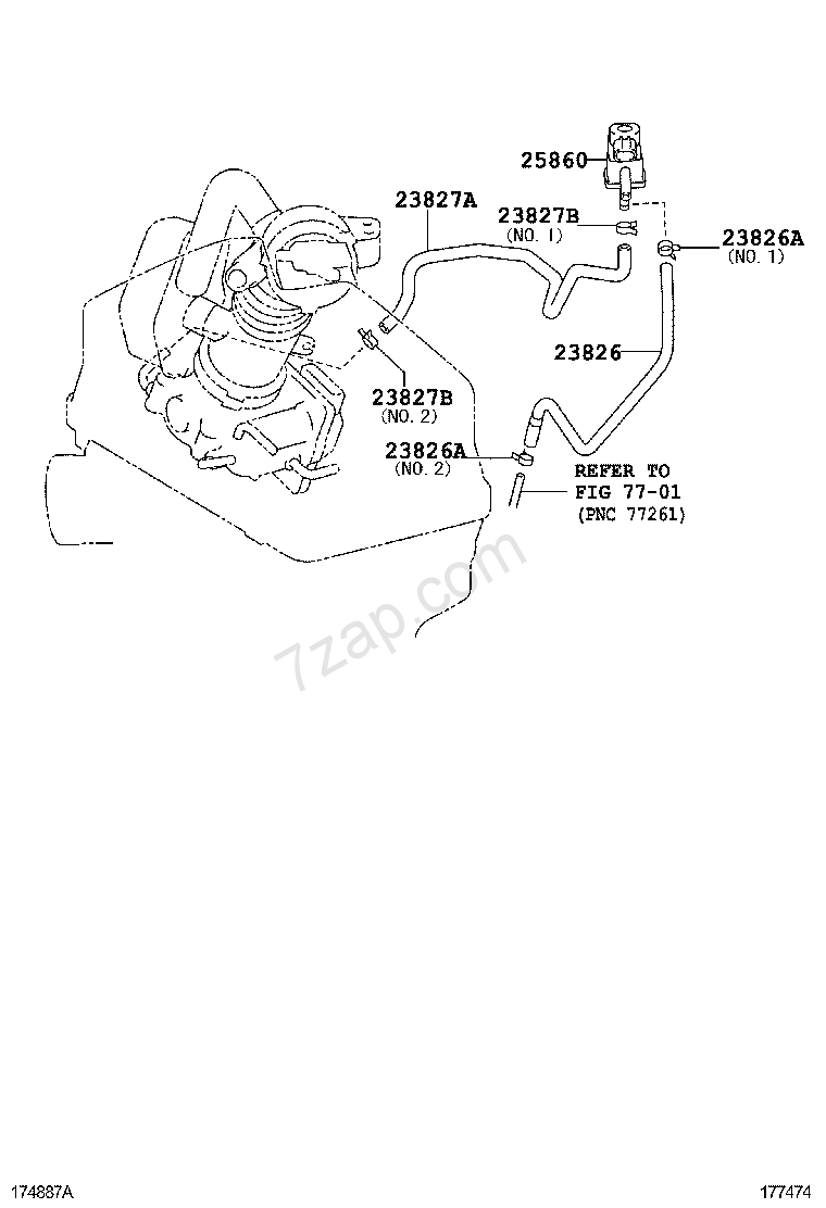 VACUUM PIPING TOYOTA CAMRY [ACV51,ASV5#,AVV50] (ASIA and