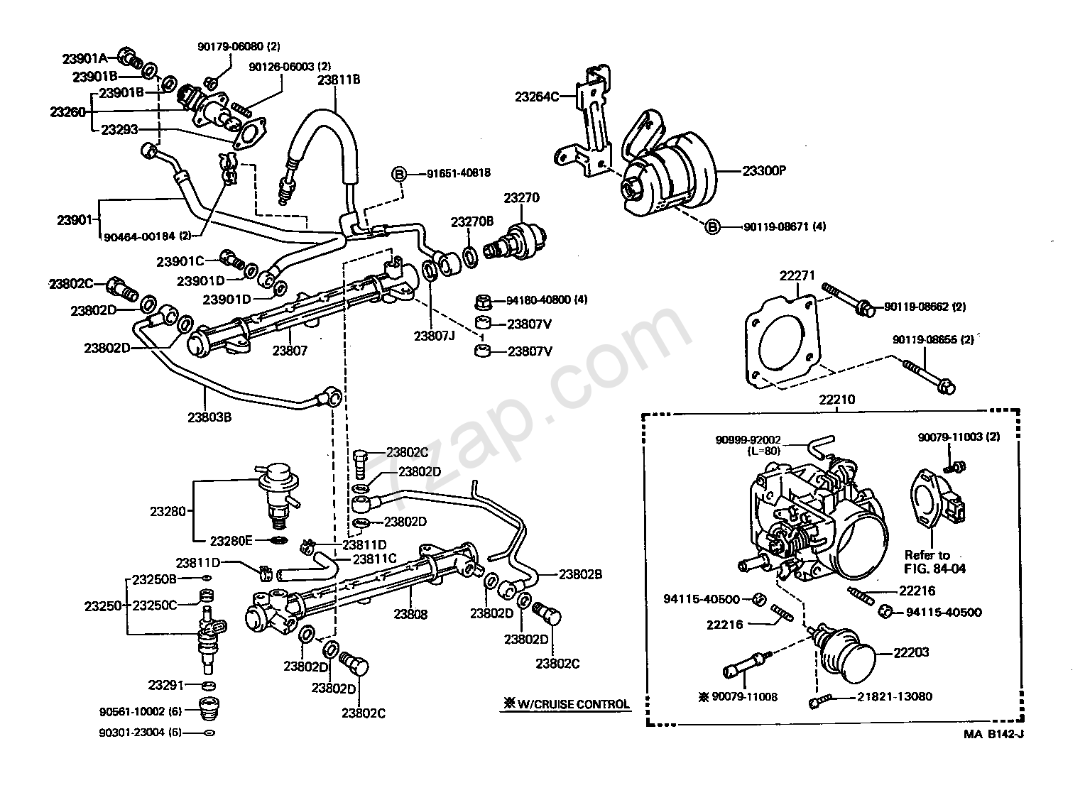 Fuel Injection System Illust No 1 Of 2 3vze
