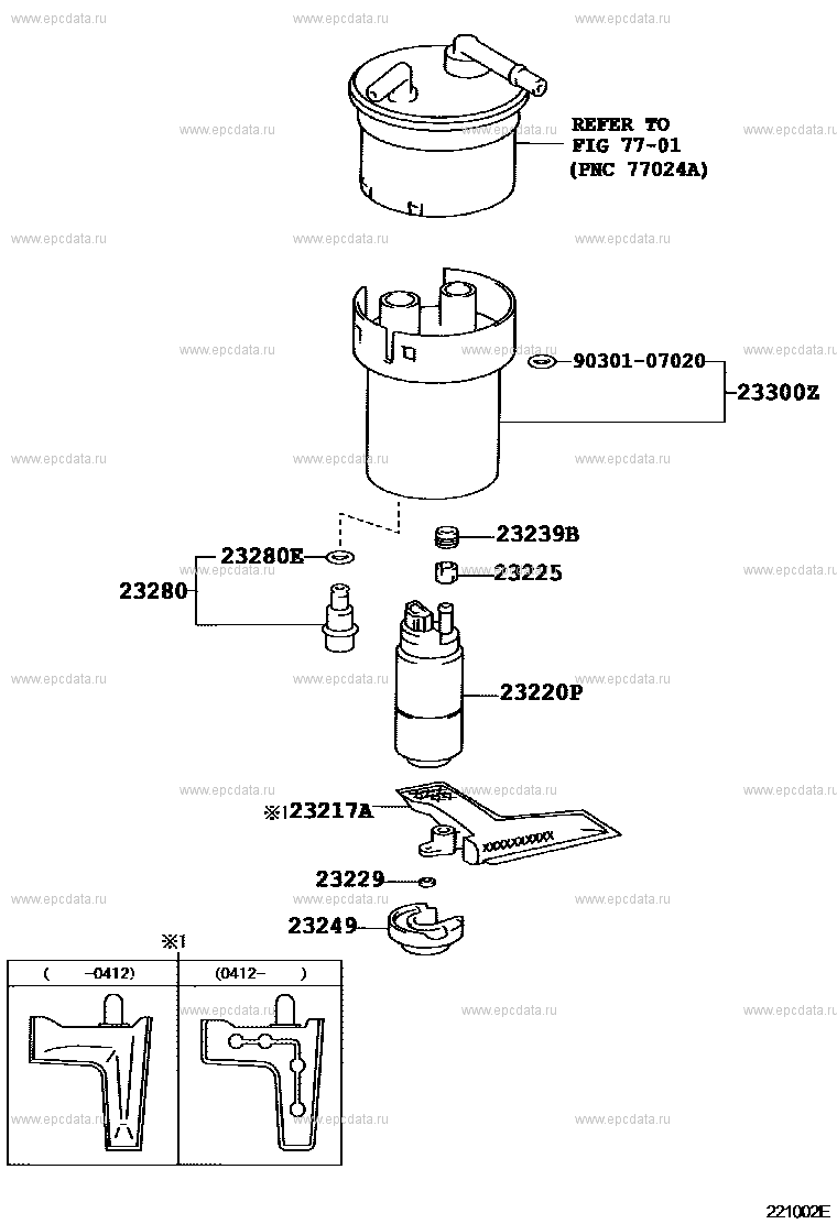 Fuel injection system for Toyota Corolla 9 generation