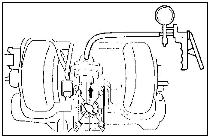 Проверка клапана системы управления подачей воздуха