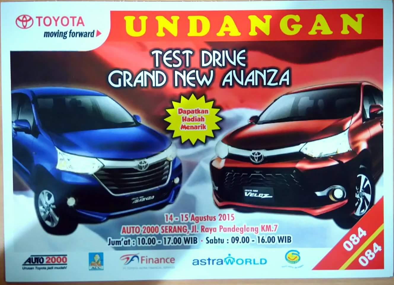 test drive grand new veloz ukuran wiper avanza testdrive berhadiah auto2000 serang