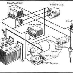 24v Starter Relay Wiring Diagram Volt Speakers Starting System Circuit - Toyota Land Cruiser Engine Repair