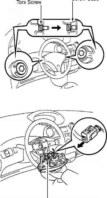 If steering wheel horn button contact plate is deformed
