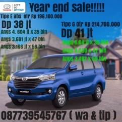 Grand New Avanza Tipe E Abs All Camry 2.5 G Kredit Toyota Jogja 2019 Mobil