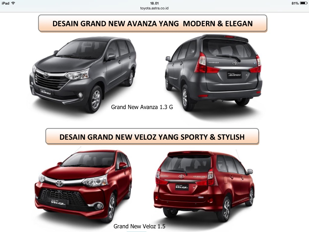 harga grand new avanza veloz all camry club di makassar  toyota