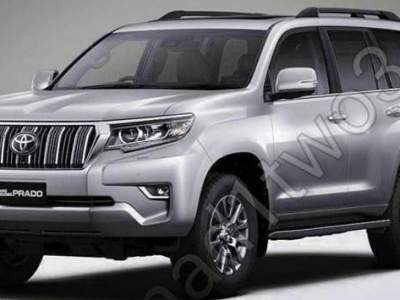 2018 Toyota Land Cruiser Prado spy photo front view