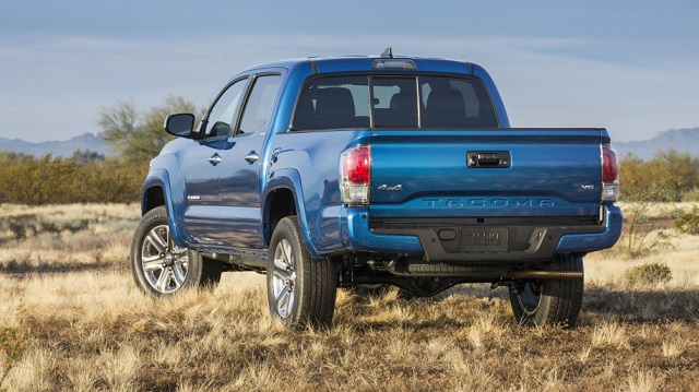 Toyota Tacoma Hybrid Pickup Truck is possible rear view