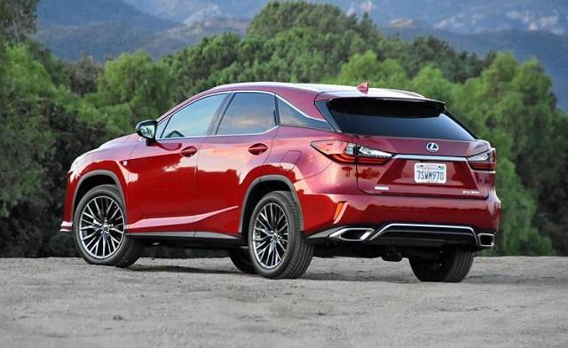 2018 lexus rx hybrid rear view