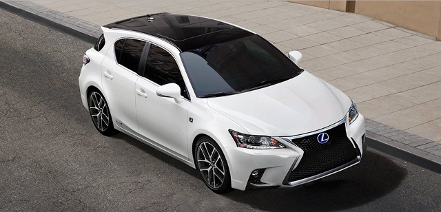 2019 Lexus CT200h top view