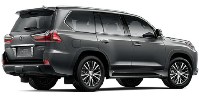 2020 lexus lx 570 rear view